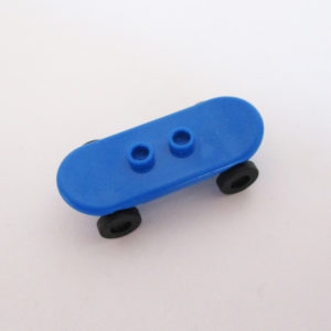 Skateboard - Blue w/ Black Wheels