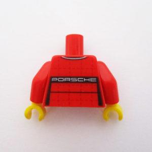 Red & Black w/ PORSCHE on Front & Rear