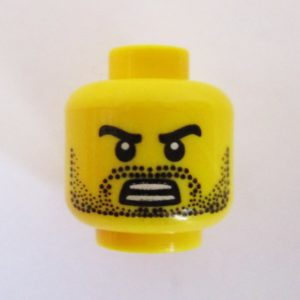 Dotted Stubble Beard & Mustache w/ Angry Look