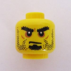 Dual Sided Head - Dotted Stubble & Goatee w/ Angry Eyes