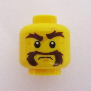 Bushy Handlebar Mustache & Eyebrows
