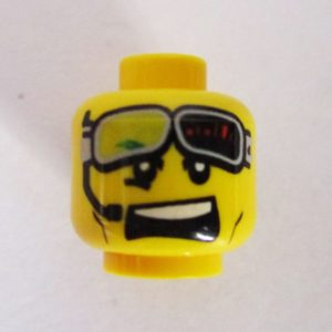Dual Sided Head - Open Mouth w/ Goggles & Microphone