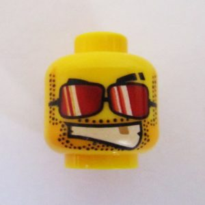 Dual Sided Head - Facial Hair, Gold Tooth & Red Lenses