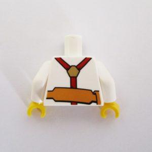 White Shirt & Belt w/ Tie, Pen & Ruler