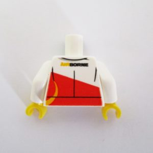 White & Red Jacket w/ 'AIRBORNE'