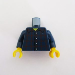 Dark Blue Plaid Shirt w/ Buttons