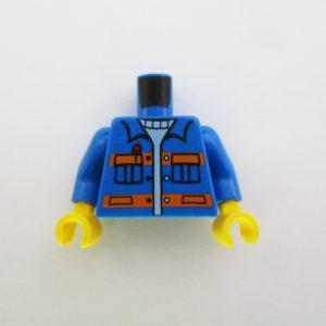 Blue w/ Pen in Pocket & Safety Stripes