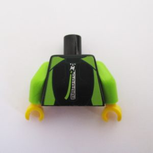 Black & Lime Green Wetsuit w/ Zipper at Back