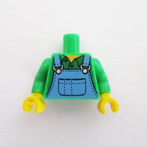 Green Shirt w/ Blue Overalls