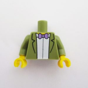 White Shirt w/ Olive Green Jacket & Bow Tie