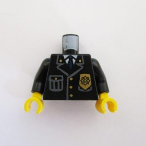 Black Jacket w/ Tie & Badge