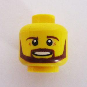 Beard, Mustache & Sideburns w/ Smile