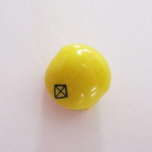 Open Face Helm - Yellow w/ Black Diamond