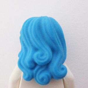 Long w/ Side Parting & Twirls in Rear - Blue